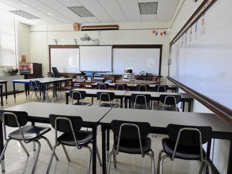 Room 316, normally where French and Spanish classes take place, remains empty, as it will in the fall. Teachers will have to adjust to a new teaching style, both because of online learning as well as having longer class periods.