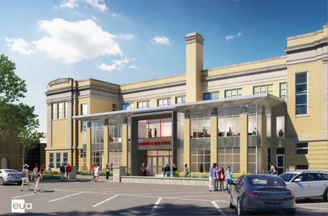 An illustration of what the new addition to the administration building will look like. Visitors will enter this building first, where all administration offices will be relocated