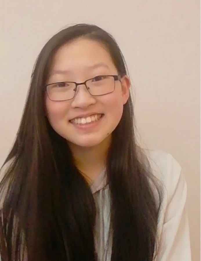 Alexis Hu, sophomore, was chosen to be a school board student representative.