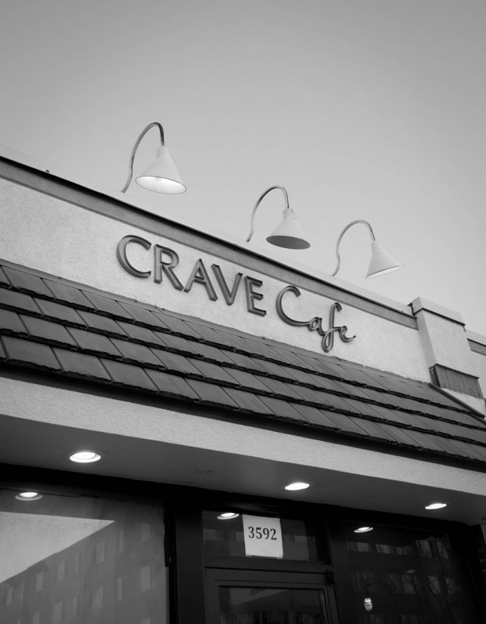 The exterior of Crave Cafe on Oakland Ave. They serve American style burgers
