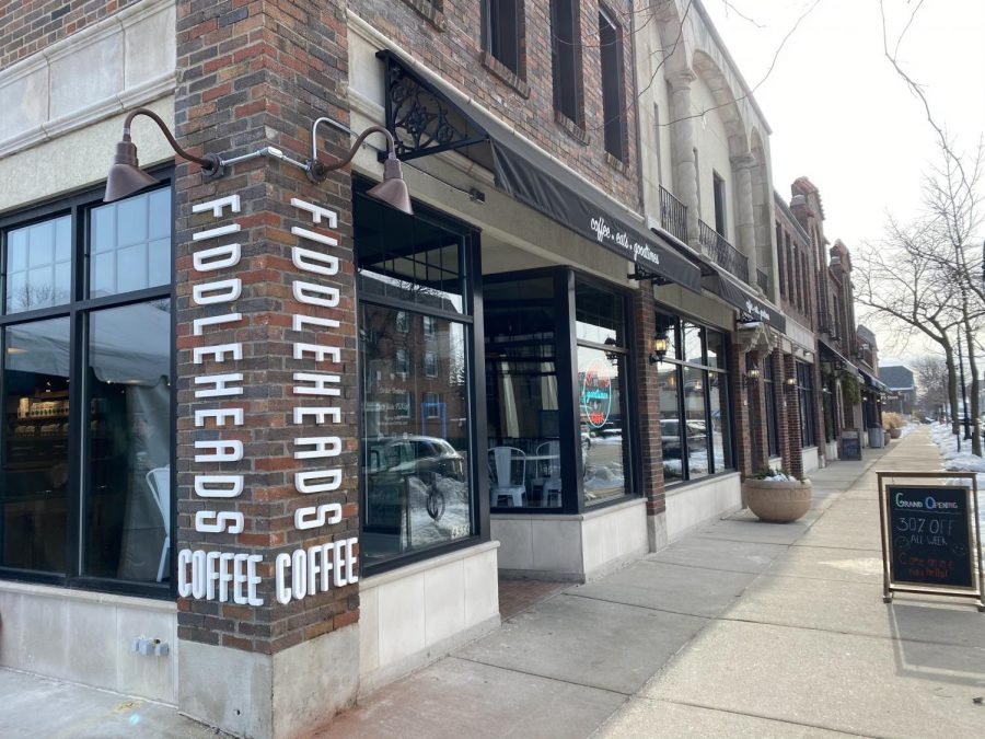 Fiddleheads Coffee on the corner of Oakland Ave and Lake Bluff Blvd.