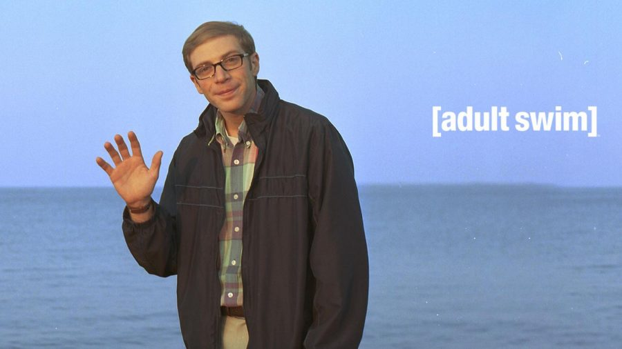 Joe Pera waves to the audience in a promotional photo for his show. Set in Marquette, Michigan, the show shoots primarily in Milwaukee.